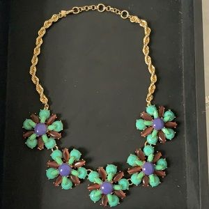 Banana Republic statement floral necklace